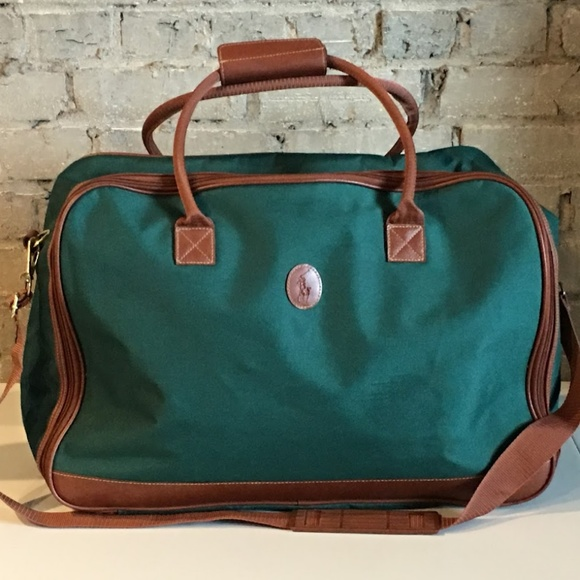 c9a02c1477 Vintage Polo Ralph Lauren Duffle Bag Green Brown. M 5b97dc6534a4efe4a338c710